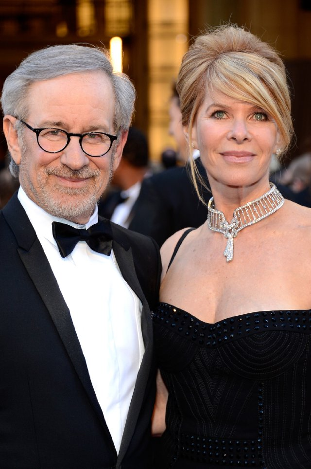 Family photo of the actress, married to Steven Spielberg,  famous for Indiana Jones and the Temple of Doom.
